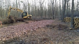 Driveway for new custom built log home, Timberhaven Log Homes, log cabins, kiln dried, laminated