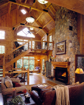 Custom Built Log Homes - Roof Systems