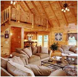 roof systems, heavy timber rafter roof, white pine, kiln dried, laminated, Timberhaven Log Homes, log cabin