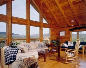 roof systems, heavy timber rafter roof, Timberhaven Log Homes, kiln dried, laminated, log cabin