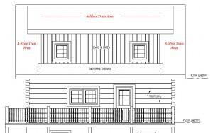 roof depiction, log home under construction, log home plans, Timberhaven, custom built log home