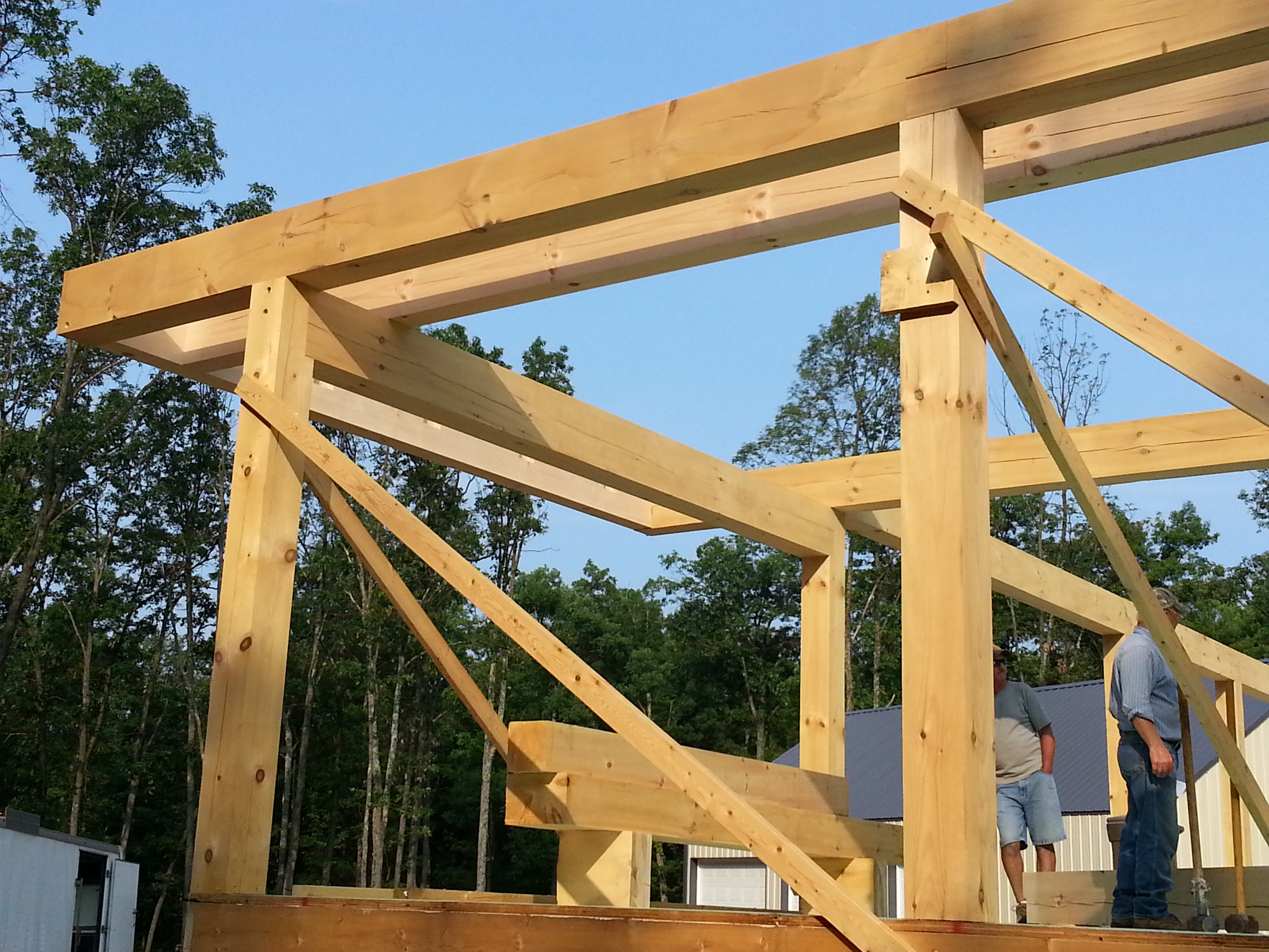 Post and beam construction part 2 for 5 structural types of log homes