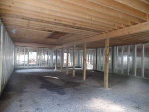 basement walls, pre-cast walls, Superior Walls, post and beam construction, under construction, log homes, log cabins, log cabin kits, Timberhaven, post and beam cabin, post and beam cabin kits, kiln dried, laminated