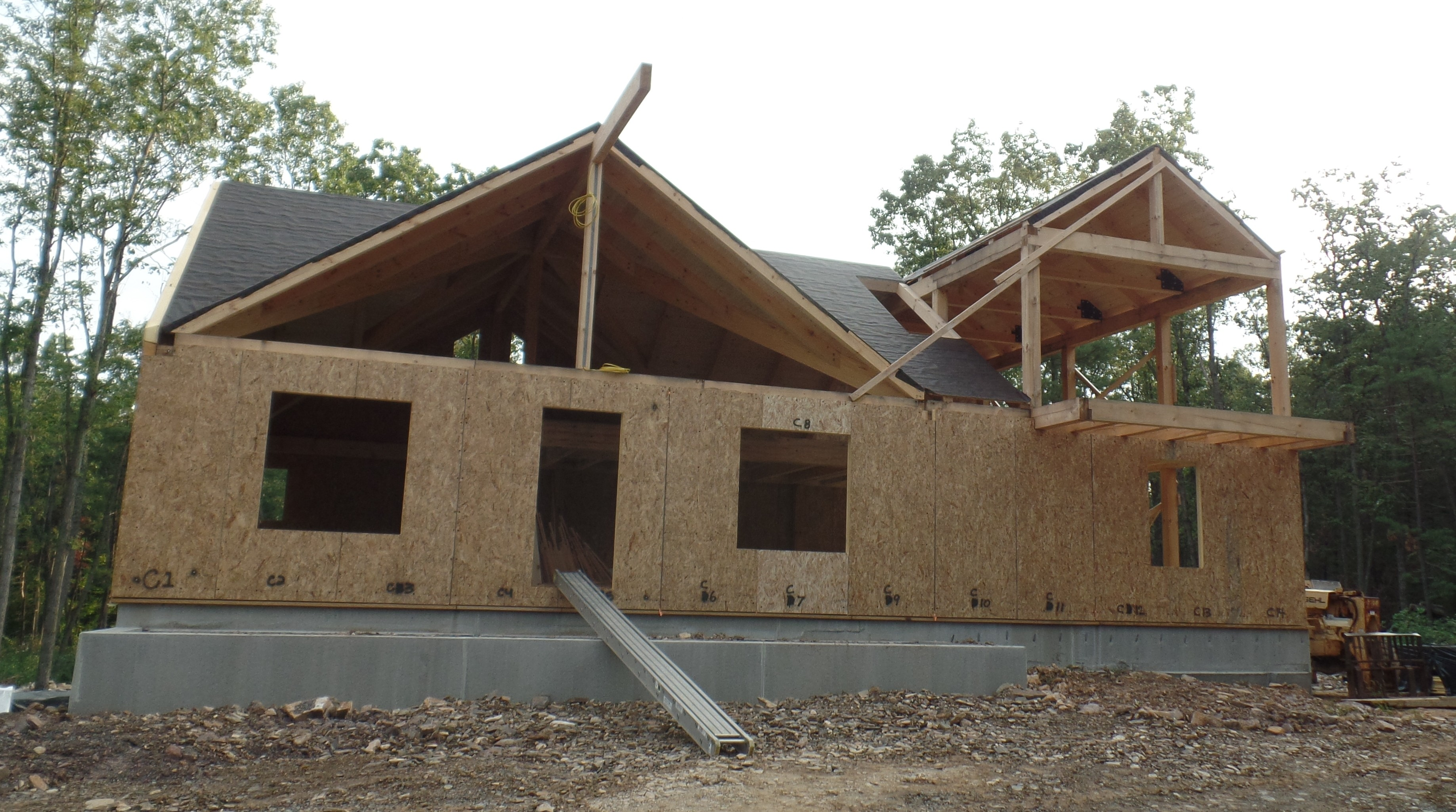 Custom Post and Beam Home: Under Construction - Part 6