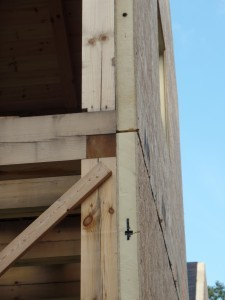 SIPs installed to custom post and beam home, post and beam homes, under construction, log homes, log cabin, log cabin kits, Timberhaven Log Homes, laminated, kiln dried, heavy timbers, SIPs