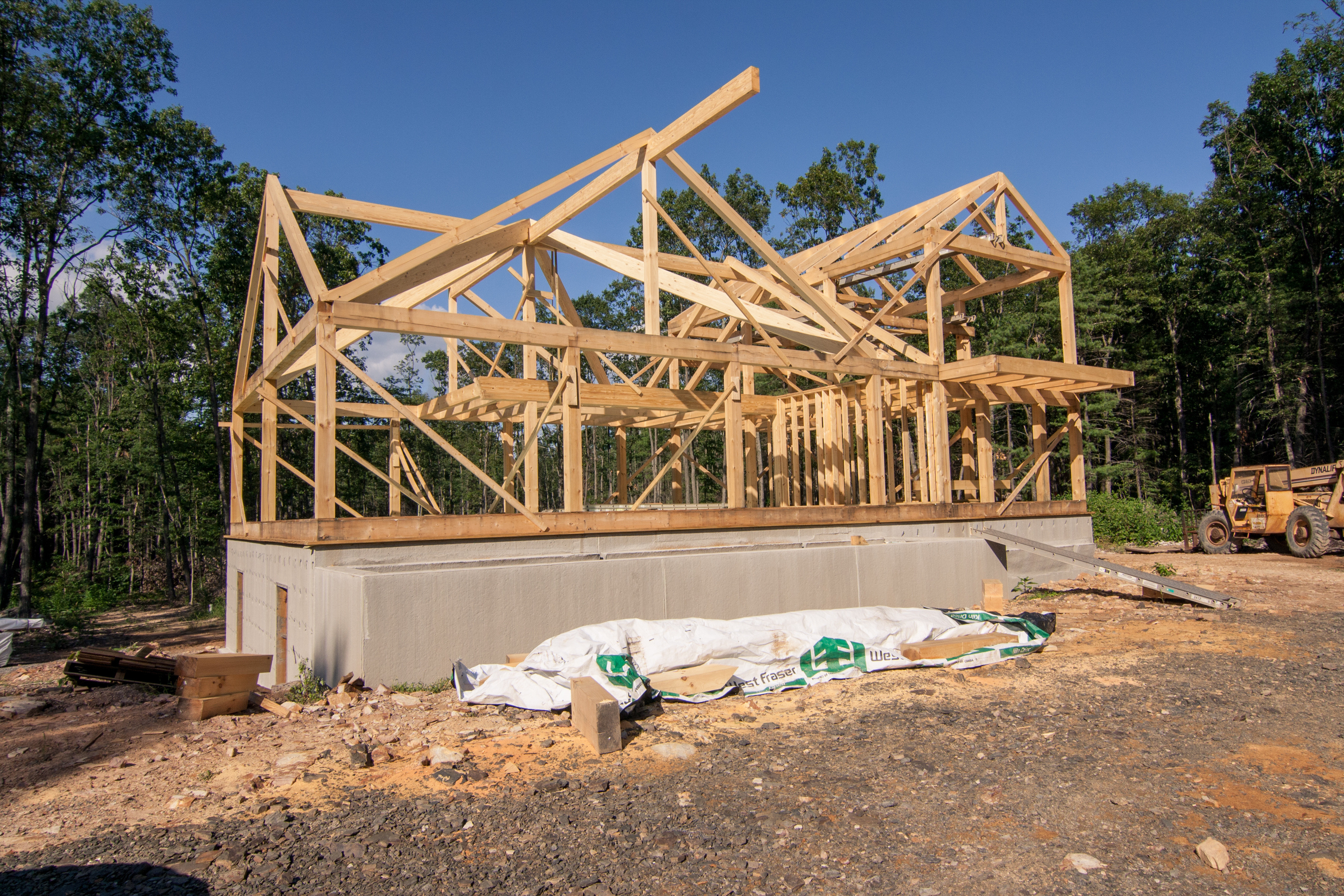 ... Post And Beam Home Design, Post And Beam Kit Under Construction, Log  Homes,