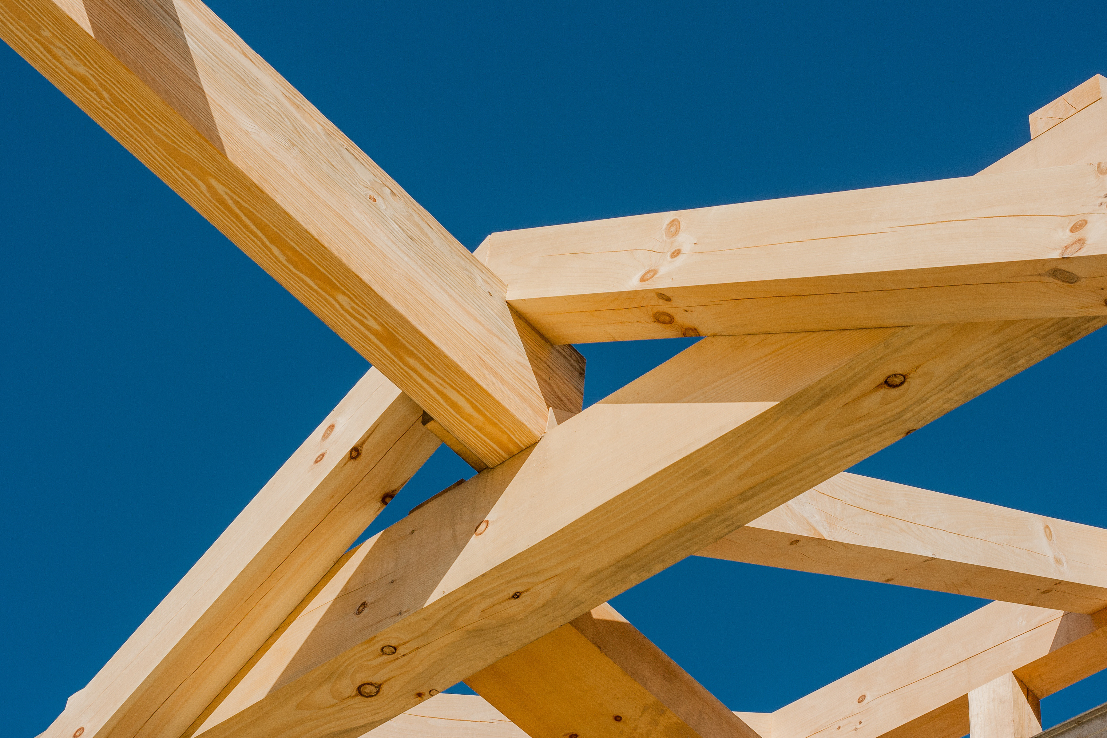 ... Heavy Timber Rafters From Ridge Beam In Roof System, Post And Beam Home  Design,