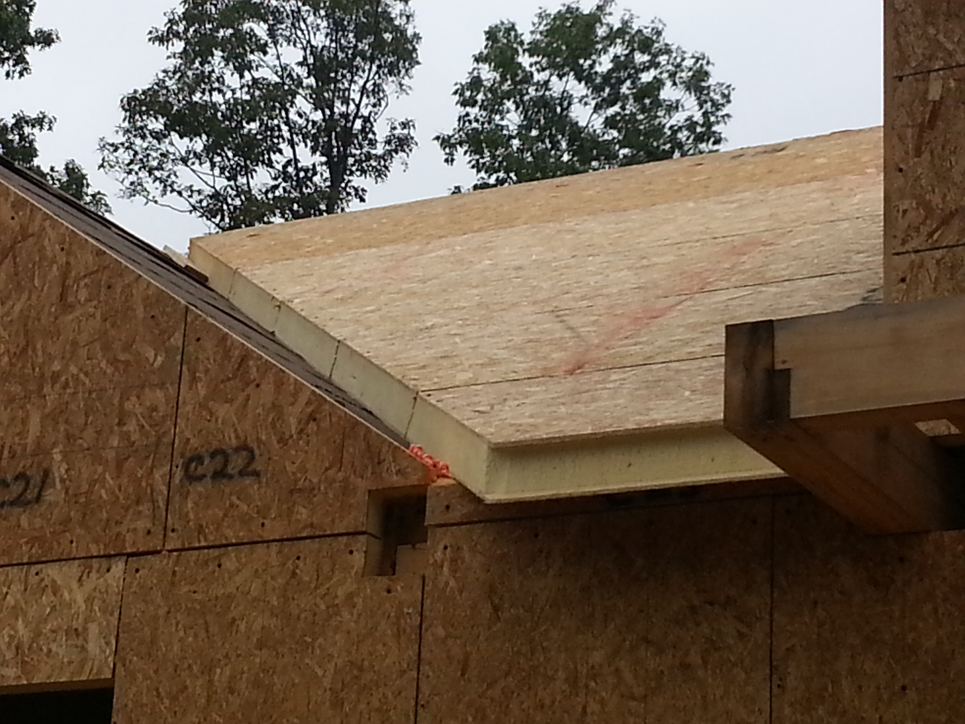 Two story post and beam home under construction part 7 for Post and beam construction