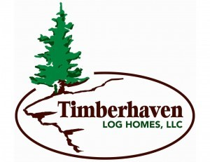 Timberhaven Log Homes logo, log homes, log cabin kits, log cabins, laminated, post and beam, under construction, custom wood home, kiln dried, Pennsylvania