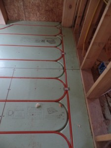 Warmboard in-floor radiant heating, PEX installation, post and beam wood home, custom design, dream home, log homes, log cabin homes, log cabin kits, log cabins, Timberhaven Log Homes, laminated, kiln dried