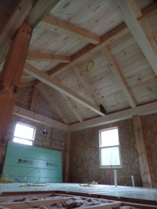 electrical and pluming rough ins in master bedroom suite, post and beam house, laminated logs, heavy timbers, Timberhaven, log homes, log cabin kits, kiln dried