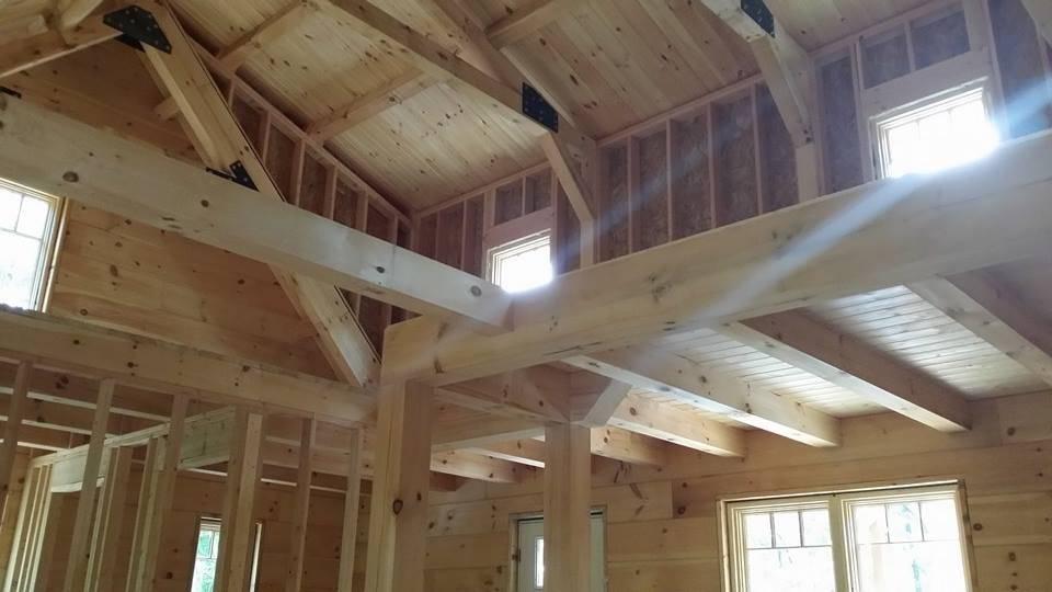 Small log cabin under construction part 13 for Loft floor construction