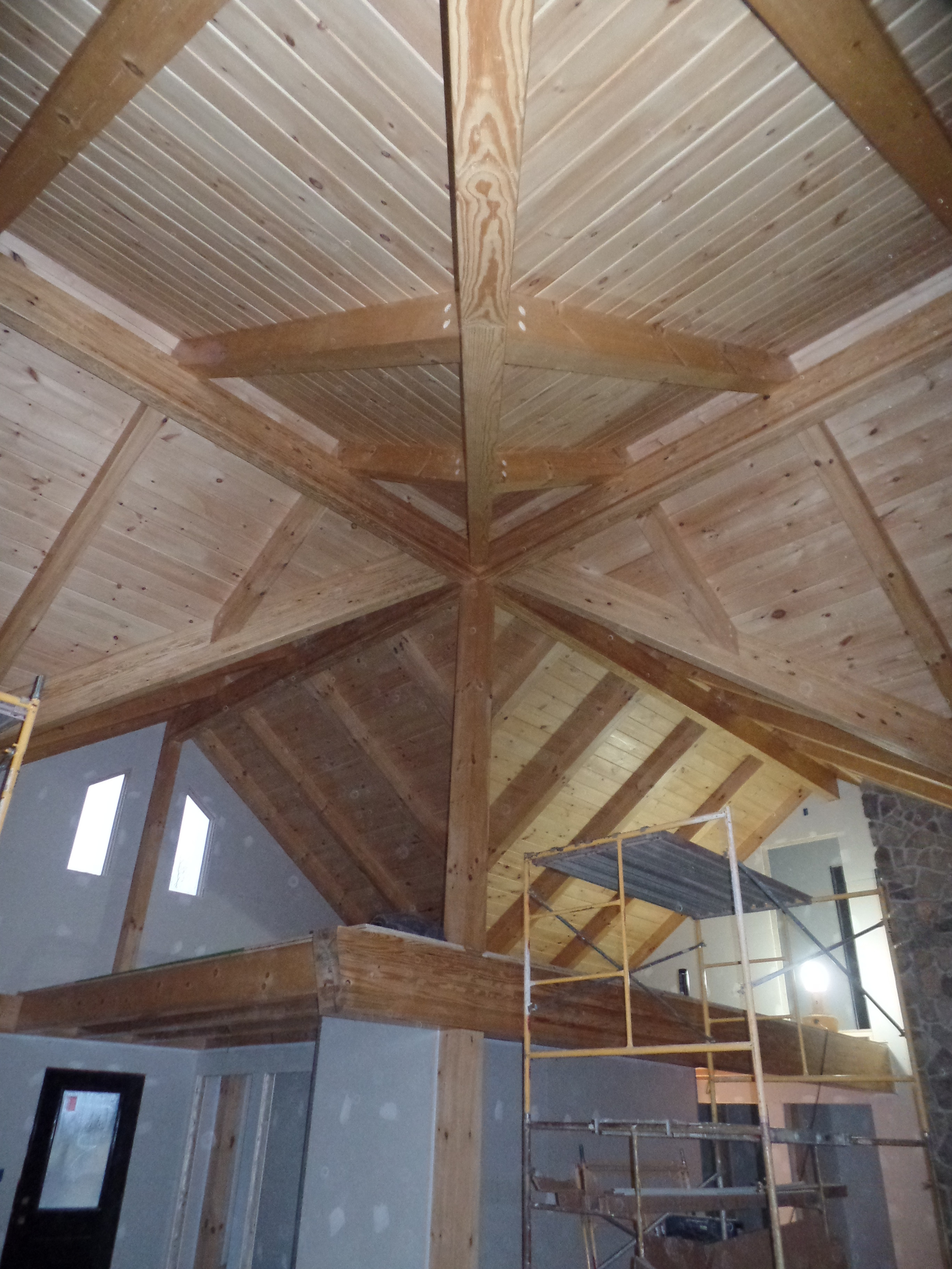 Post And Beam Under Construction Part 13