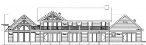 front elevation of custom log home, Timberhaven Log Homes, log homes, log cabin homes, log cabins, post and beam homes, timberframe homes, timber frame homes, laminated logs, engineered logs, floor plan designs, kiln dried logs, international distribution