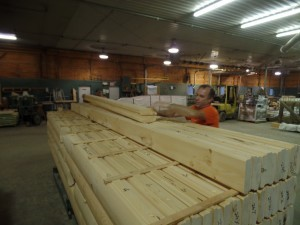 packing White Pine log packs for Ireland home, Timberhaven Log Homes, log homes, log cabin homes, log cabins, post and beam homes, timberframe homes, timber frame homes, laminated logs, engineered logs, floor plan designs, kiln dried logs, international distribution