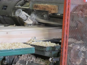 White Pine wood chips from log being planed, Timberhaven Log Homes, log homes, log cabin homes, log cabins, post and beam homes, timberframe homes, timber frame homes, laminated logs, engineered logs, floor plan designs, kiln dried logs, nature friendly