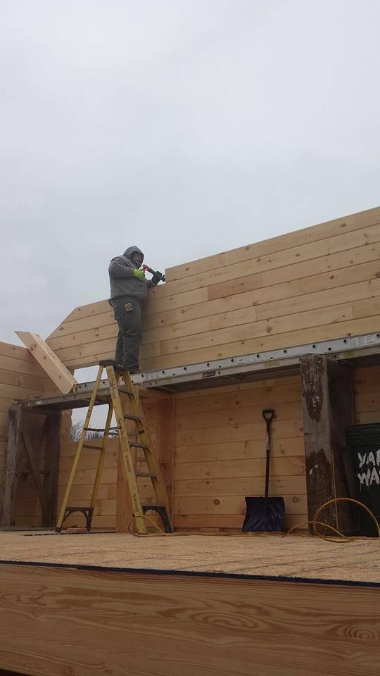 Solid Log Gables: Log Home Under Construction on log home window designs, log home carports, log home patio designs, log home roof designs, log home cornice designs, log home pergola designs,