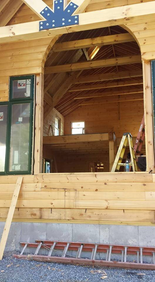 Installation Of Windows And Doors Rhode Island Log Home