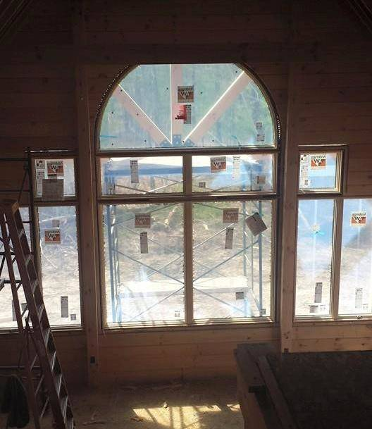 Installation Of Windows And Doors Rhode Island Log Home