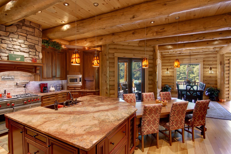 Rhode island log home flooring installation for Design log