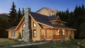 Cheyenne rendering in Montana setting, Timberhaven Log Homes, log homes, log cabin homes, log cabins, post and beam homes, timberframe homes, timber frame homes, laminated logs, engineered logs, floor plan designs, kiln dried logs, Timberhaven local reps, log home builders, log home design, PA log homes, Pennsylvania log homes, log home design center, post and beam