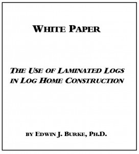 cover of the laminated logs white paper, Timberhaven Log Homes, log homes, log cabin homes, log cabins, post and beam homes, timberframe homes, timber frame homes, laminated logs, engineered logs, floor plan designs, kiln dried logs, Timberhaven local reps, log home builders, kiln-dried engineered logs, PA log homes, log homes in PA, kiln-dried engineered logs