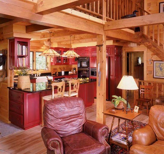 The Heart Of The Home Log Home Kitchens