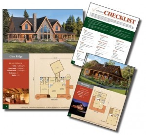 images of homes and floor plans of a book, Log home kitchens, Timberhaven Log Homes, log homes, log cabin homes, log cabins, post and beam homes, timberframe homes, timber frame homes, laminated logs, engineered logs, floor plan designs, kiln dried logs, Timberhaven local reps, log homes in PA, log home builders, award-winning plan book, award winning plan book