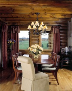 rustic elegant dining room, Warm Thanksgiving wishes, Log home kitchens, Timberhaven Log Homes, log homes, log cabin homes, log cabins, post and beam homes, timberframe homes, timber frame homes, laminated logs, engineered logs, floor plan designs, kiln dried logs, Timberhaven local reps, log homes in PA, log home builders, give thanks, thank you