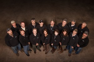 group of employees wearing Timberhaven jackets, Warm Thanksgiving wishes, Log home kitchens, Timberhaven Log Homes, log homes, log cabin homes, log cabins, post and beam homes, timberframe homes, timber frame homes, laminated logs, engineered logs, floor plan designs, kiln dried logs, Timberhaven local reps, log homes in PA, log home builders, give thanks, thank you