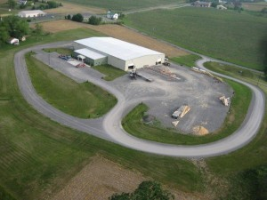 aerial image of commerical property in Middleburg, Big move, Timberhaven Log Homes, Timberhaven Log & Timber Homes, log homes, log cabin homes, log cabins, post and beam homes, timberframe homes, timber frame homes, laminated logs, engineered logs, floor plan designs, kiln dried logs, Timberhaven local reps, log homes in PA