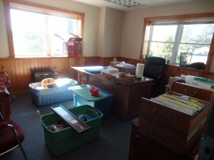 moving boxes sitting in office, office relocation, log homes, log cabin homes, log cabins, post and beam homes, timberframe homes, timber frame homes, laminated logs, engineered logs, floor plan designs, kiln dried logs, Timberhaven local reps, log homes in Pennsylvania, log homes in PA, Timberhaven Log Homes, Timberhaven Log & Timber Homes