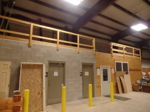 New break room being built on second level