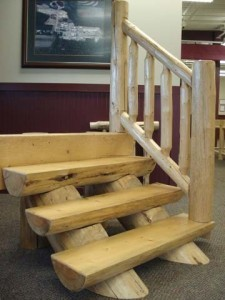 Log Stair System, wooden stair system, Log stair system, log homes, log cabin homes, log cabins, post and beam homes, timberframe homes, timber frame homes, laminated logs, engineered logs, floor plan designs, kiln dried logs, Timberhaven local reps, log homes in Pennsylvania, log homes in PA, Timberhaven Log Homes, Timberhaven Log & Timber Homes