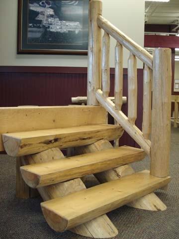 Log Stair System, Wooden Stair System, Log Stair System, Log Homes, ...
