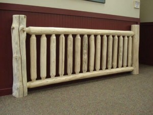 Round Rustic Railing System, wooden stair system, Log stair system, log homes, log cabin homes, log cabins, post and beam homes, timberframe homes, timber frame homes, laminated logs, engineered logs, floor plan designs, kiln dried logs, Timberhaven local reps, log homes in Pennsylvania, log homes in PA, Timberhaven Log Homes, Timberhaven Log & Timber Homes
