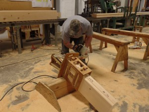 dovetail corner being cut, delivery day, log homes, log cabin homes, log cabins, post and beam homes, timberframe homes, timber frame homes, laminated logs, engineered logs, floor plan designs, kiln dried logs, Timberhaven local reps, log homes in Pennsylvania, log homes in PA, Timberhaven Log Homes, Timberhaven Log & Timber Homes