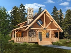 log cabin rendering, Clear creek log home package, log homes, log cabin homes, log cabins, post and beam homes, timberframe homes, timber frame homes, laminated logs, engineered logs, floor plan designs, kiln dried logs, Timberhaven local reps, log homes in Pennsylvania, log homes in PA, Timberhaven Log Homes, Timberhaven Log & Timber Homes