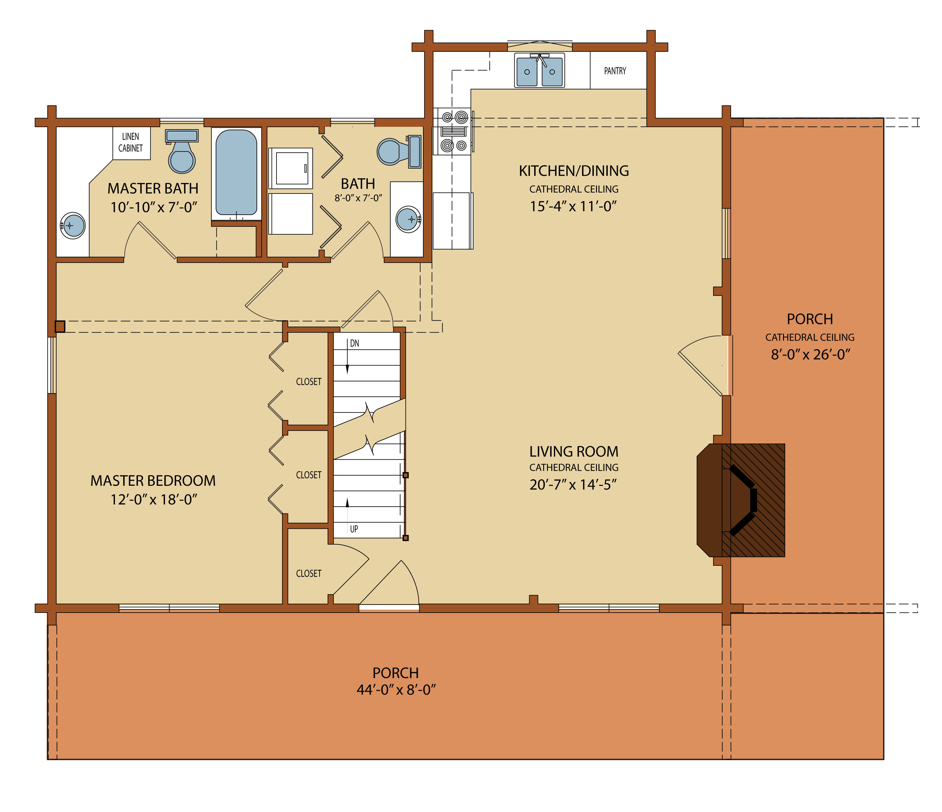 Back by popular demand the clear creek log package for Local builders house plans