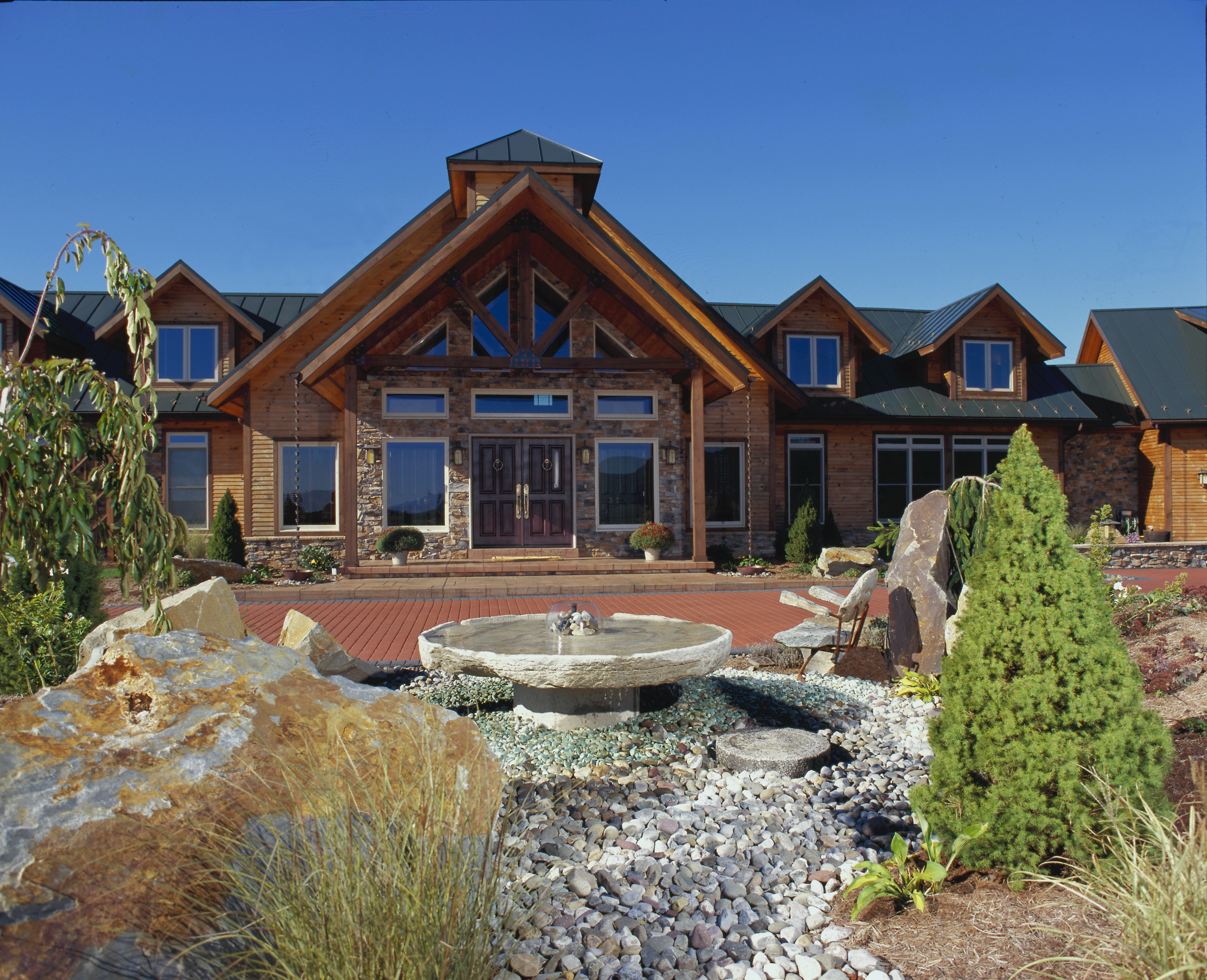 landscaping for your new timberhaven log home