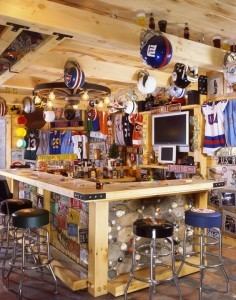 sports bar in log home, Indoor entertainment areas, log homes, log cabin homes, log cabins, post and beam homes, timberframe homes, timber frame homes, laminated logs, engineered logs, floor plan designs, kiln dried logs, Timberhaven local reps, log homes in Pennsylvania, log homes in PA, Timberhaven Log Homes, Timberhaven Log & Timber Homes