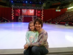 daugher and mom at disney on ice show, wendi zimmerman-roush, log homes, log cabin homes, log cabins, post and beam homes, timberframe homes, timber frame homes, laminated logs, engineered logs, floor plan designs, kiln dried logs, Timberhaven local reps, log homes in Pennsylvania, log homes in PA, Timberhaven Log Homes, Timberhaven Log & Timber Homes