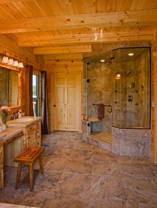 walk-in showers, large walk in shower with white pine accents, log homes, log cabin homes, log cabins, post and beam homes, timberframe homes, timber frame homes, laminated logs, engineered logs, floor plan designs, kiln dried logs, Timberhaven local reps, log homes in Pennsylvania, log homes in PA, Timberhaven Log Homes, Timberhaven Log & Timber Homes