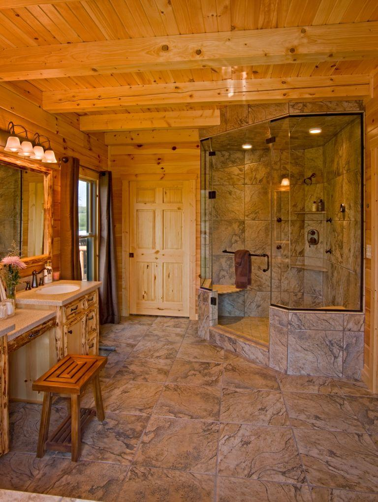 Supersized Walk-In Showers for New Log Homes or Renovations