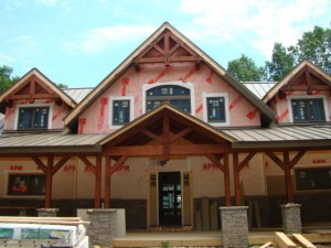 timber frame home under construction, timber frame homes, log homes, log cabin homes, log cabins, post and beam homes, timberframe homes, timber frame homes, laminated logs, engineered logs, floor plan designs, kiln dried logs, Timberhaven local reps, log homes in Pennsylvania, log homes in PA, Timberhaven Log Homes, Timberhaven Log & Timber Homes