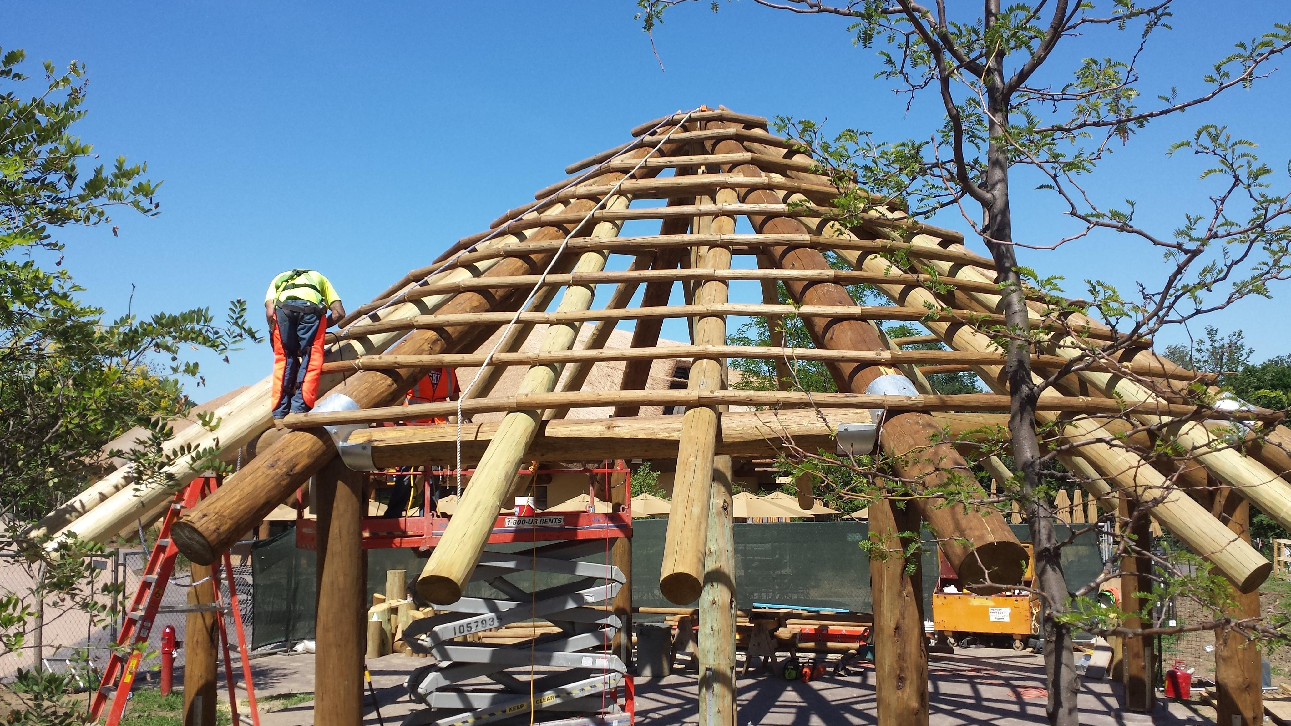 Construction Pergola Bois Plan custom log & timber projects at the omaha zoo