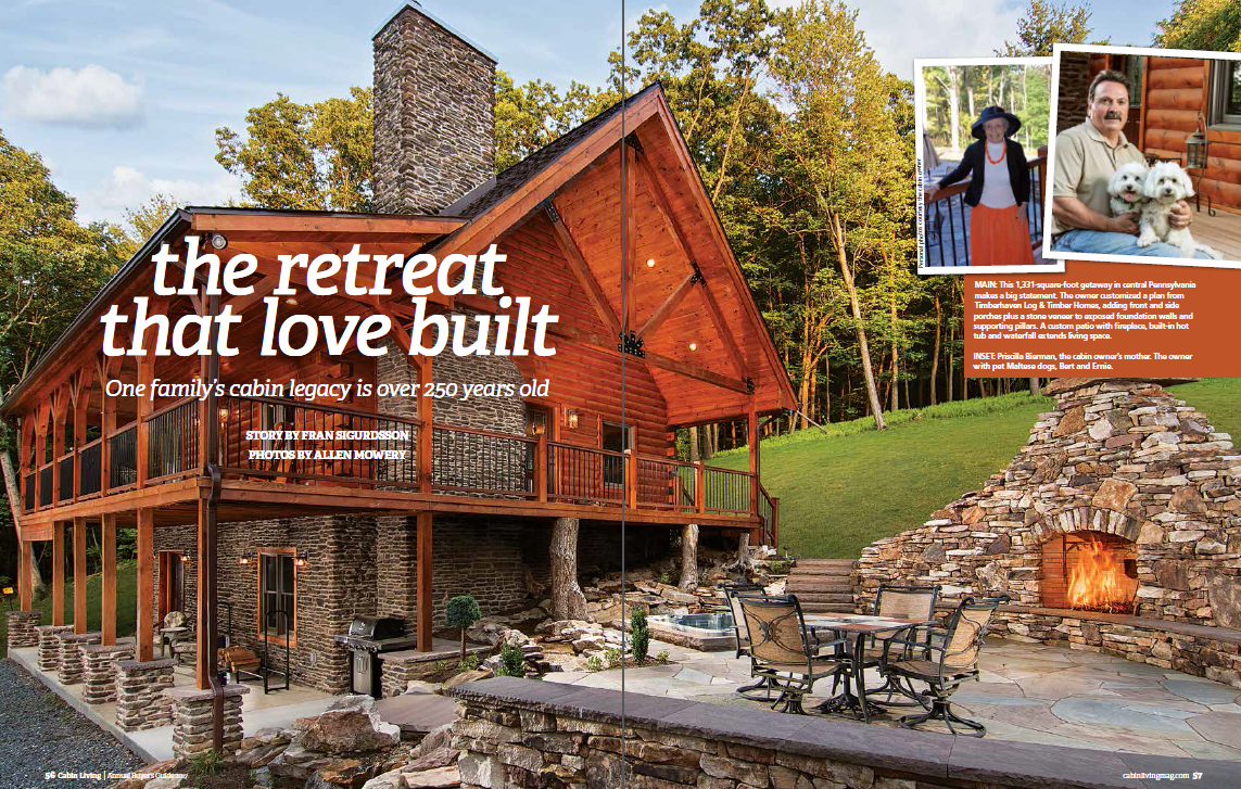The Retreat That Love Built A Feature In Cabin Living Magazine