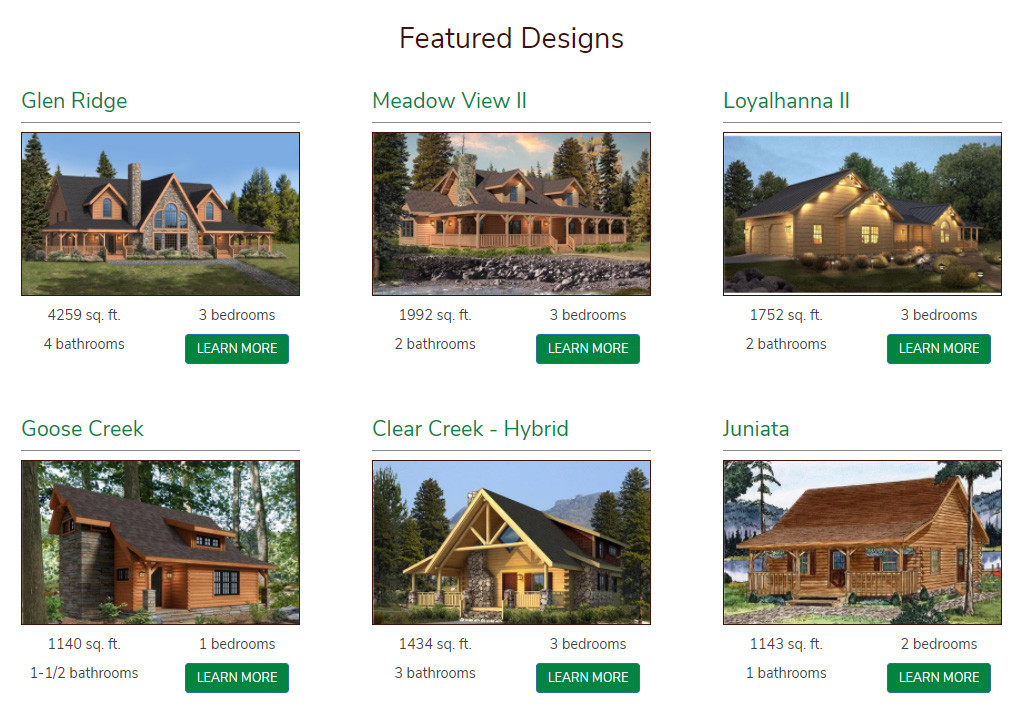 Announcing Launch of New Log Home Design Center Website