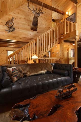 ... Log Living Area In A Log Home, Best Home, Log Homes, Log Cabin Homes ...