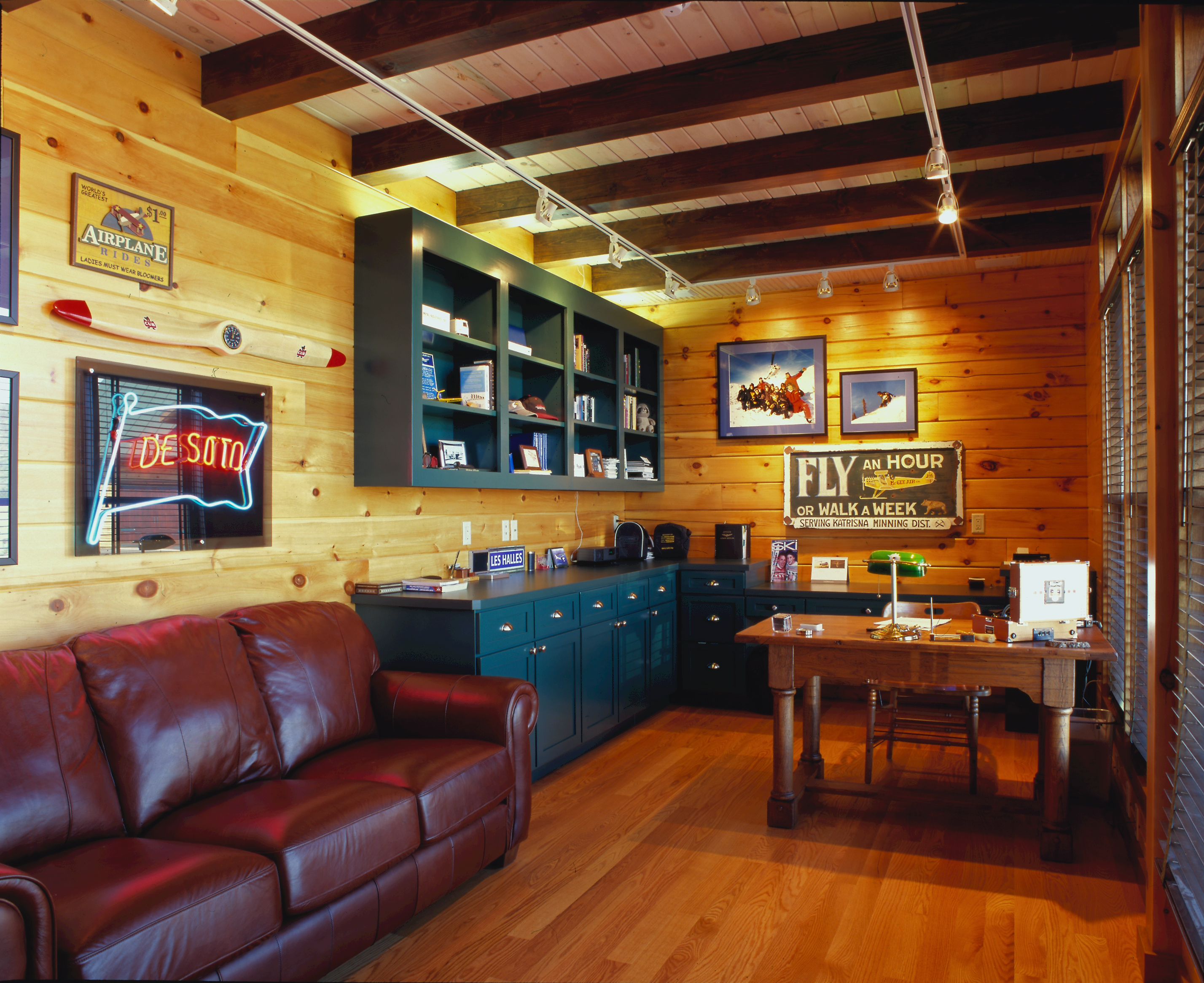 home office world. Office With Couch In Log Home, Home Office, Homes, Cabin Homes World